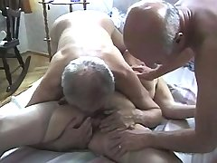 Greyhead granny n two old men get oral sex in orgy